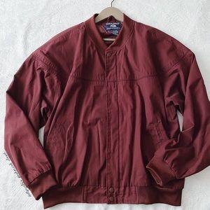 Maroon Vintage John Blair Bomber Jacket